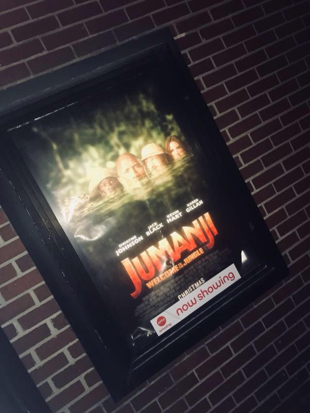 "This is a picture of the ""Jumanji"" movie poster at ""AMC 20, Livonia."""