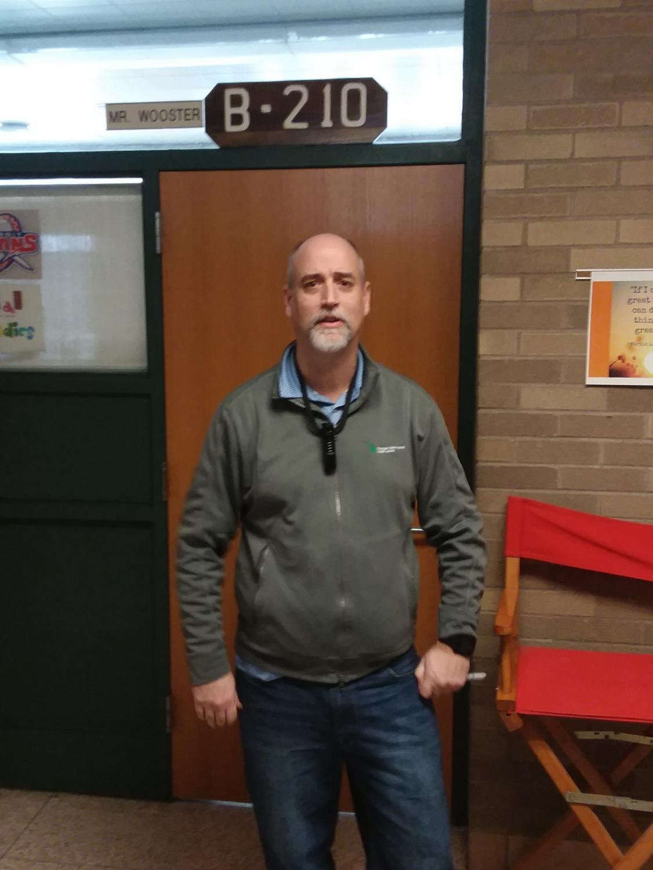 Mr. Wooster's, 6th grade Social Studies teacher, homeroom won the door decorating contest.
