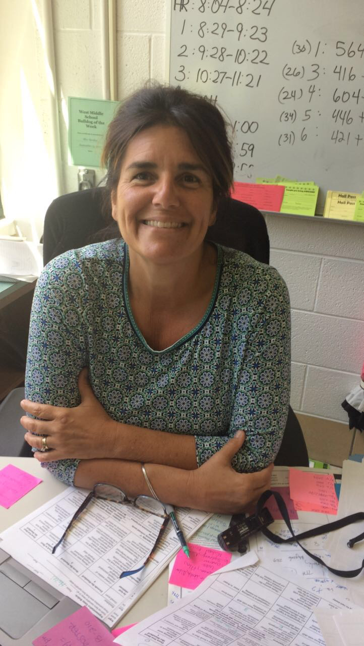 Mrs. Savalox, 8th grade ELA teacher.