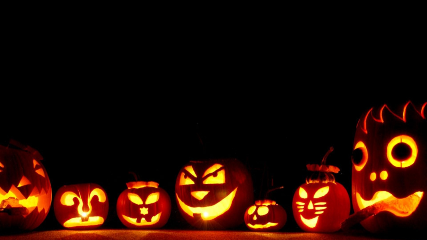 Eugene's pumpkins that sit outside his house waiting for trick-or-treaters.