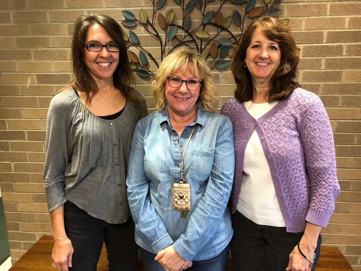 From left to right: Mrs. Campbell, Mrs. Rapson, and Mrs. Haneline.