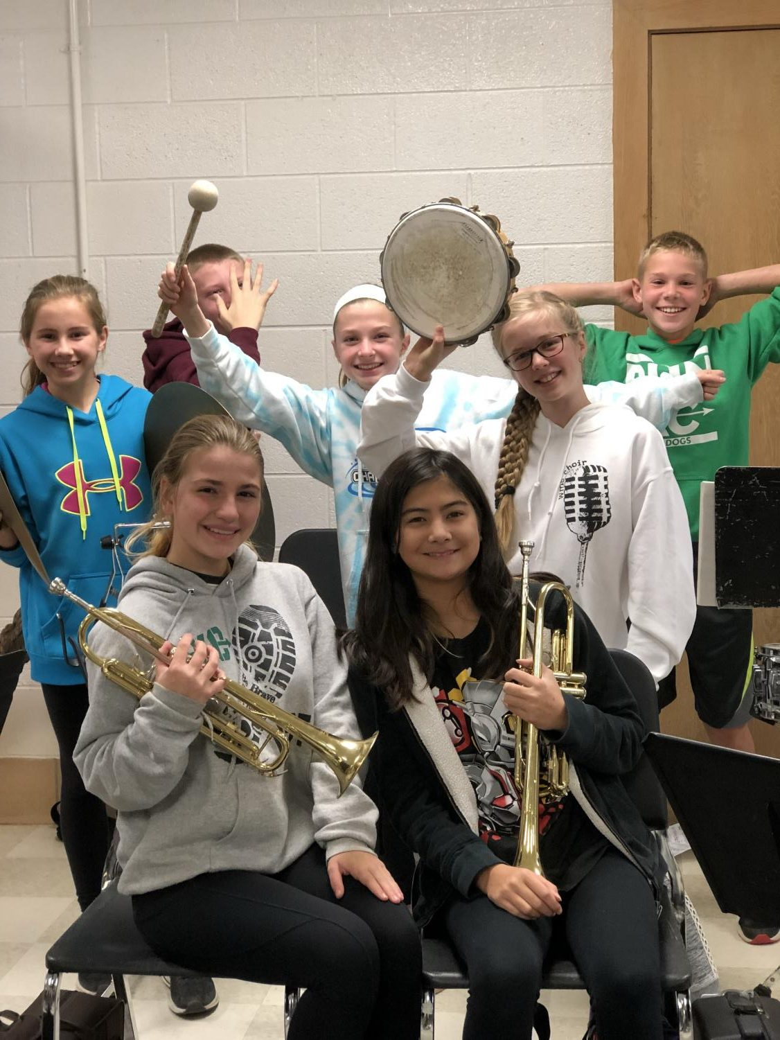 7th graders in the WMS Band.