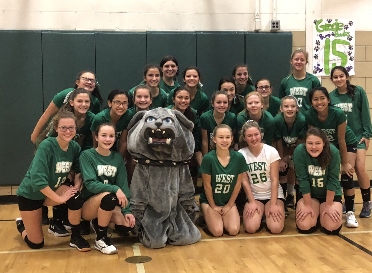 2018 W.M.S. Volleyball team after their win against Discovery Middle School.