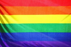 LGBTQ+ Pride flag.