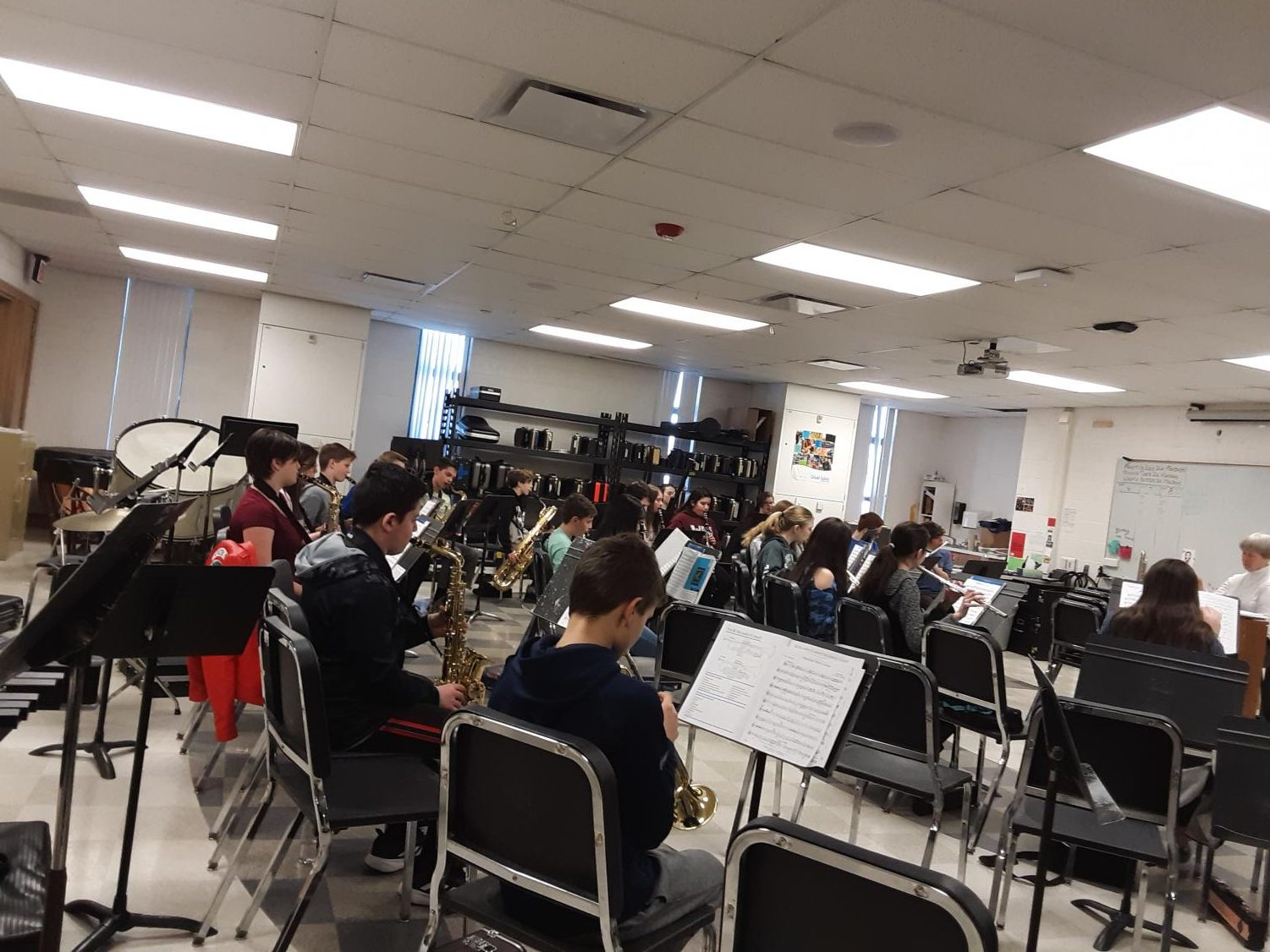 WMS 7th grade band room.