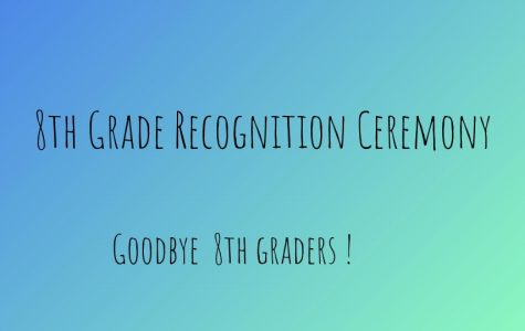8th Grade Recognition Ceremony