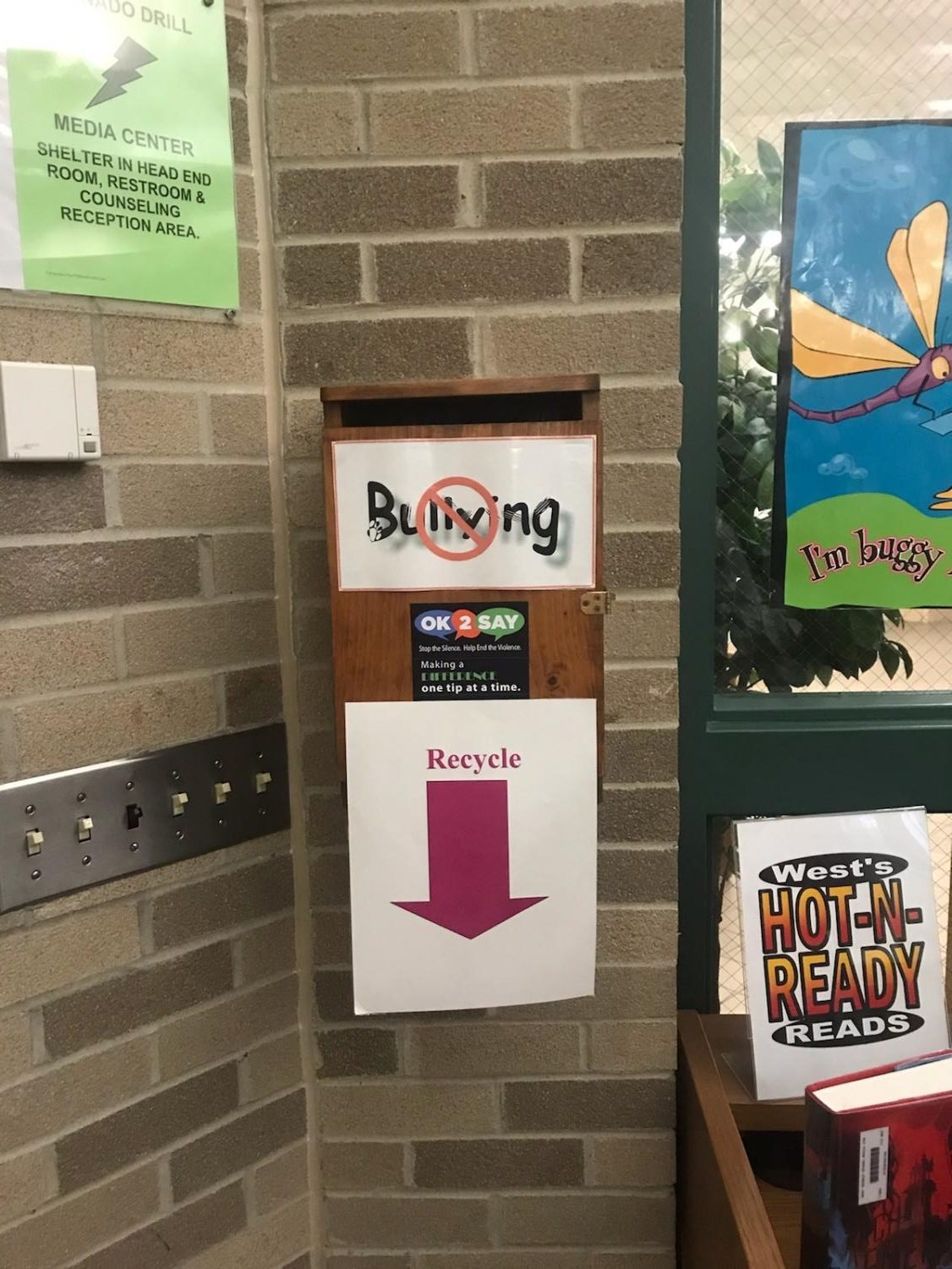 Bully box in the Media Center at West.
