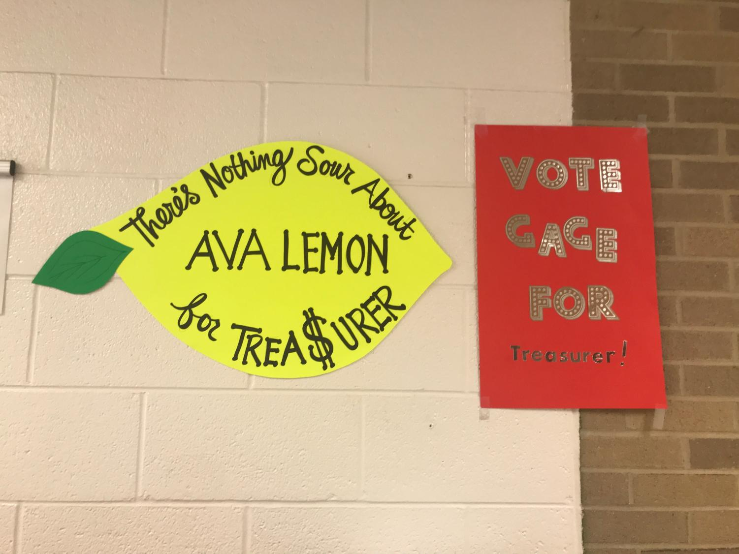 Student council posters.