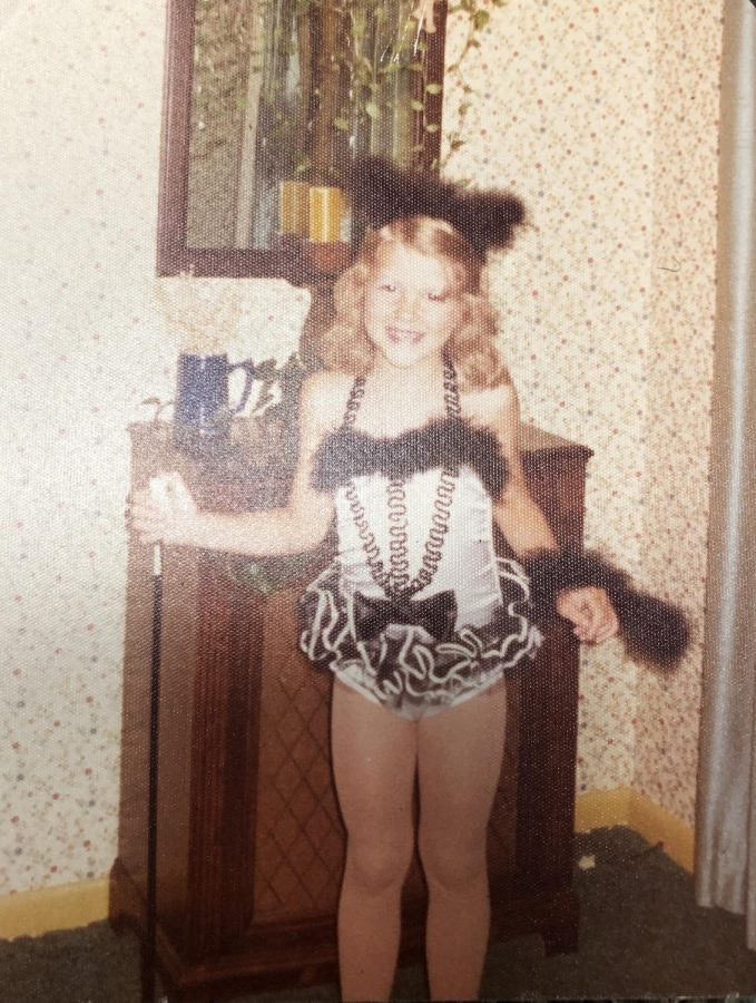 Mrs. Kozler in her dance outfit June of 1975.