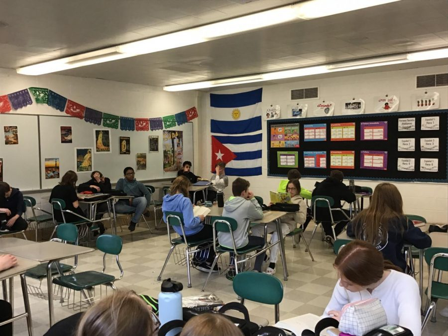 Mrs.+Bridges%27s+Spanish+1+and+2+classroom.+