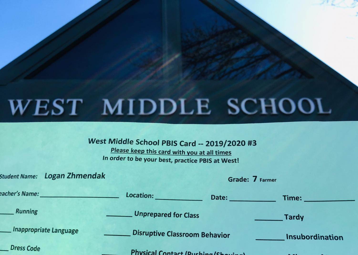 West+Middle+School%27s+PBIS+card.