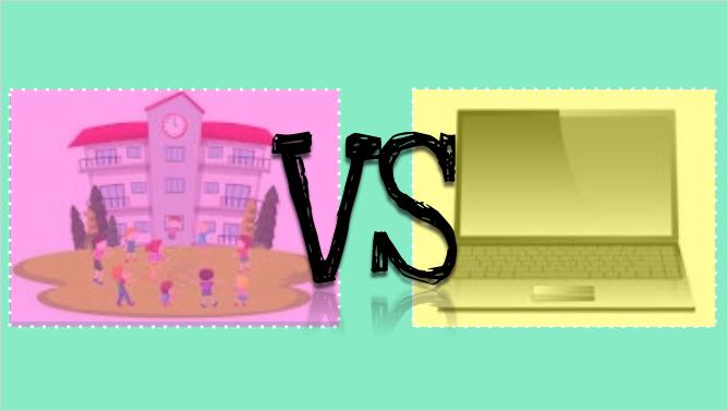 In-person school vs. online schooling