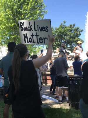 Black Lives Matter protest in Downtown Plymouth, Michigan.
