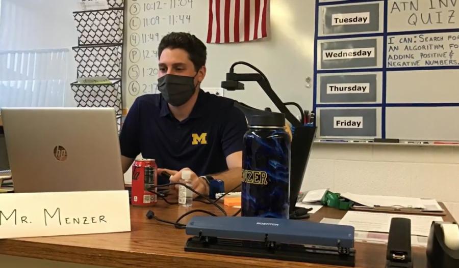 Mr. Menzer at work.