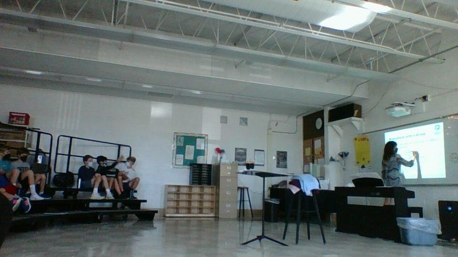 Mrs. Grady, teaches Positivity Project during primetime.